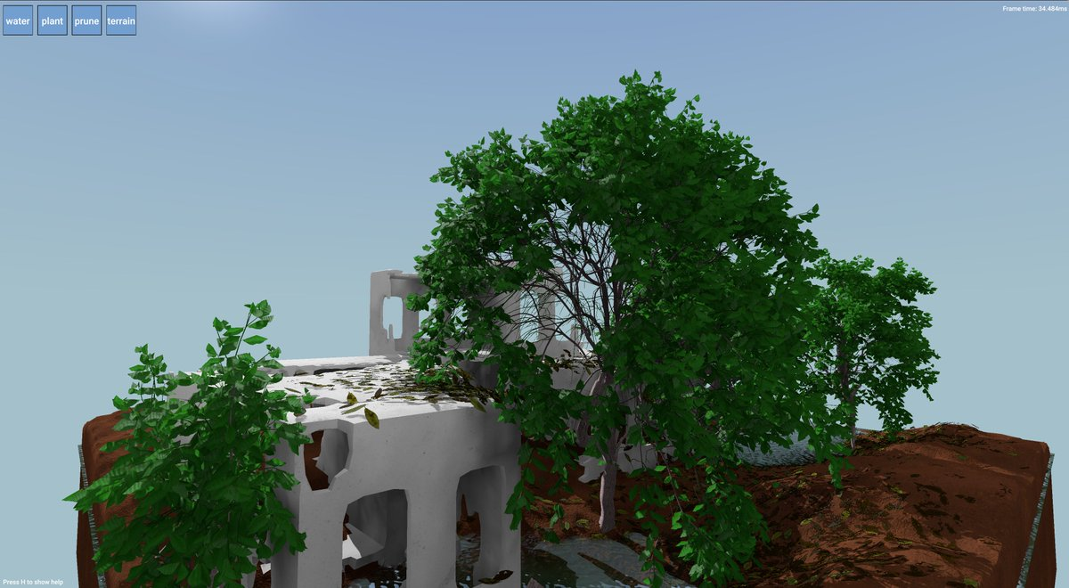 a screenshot from Garden showing a build and some trees