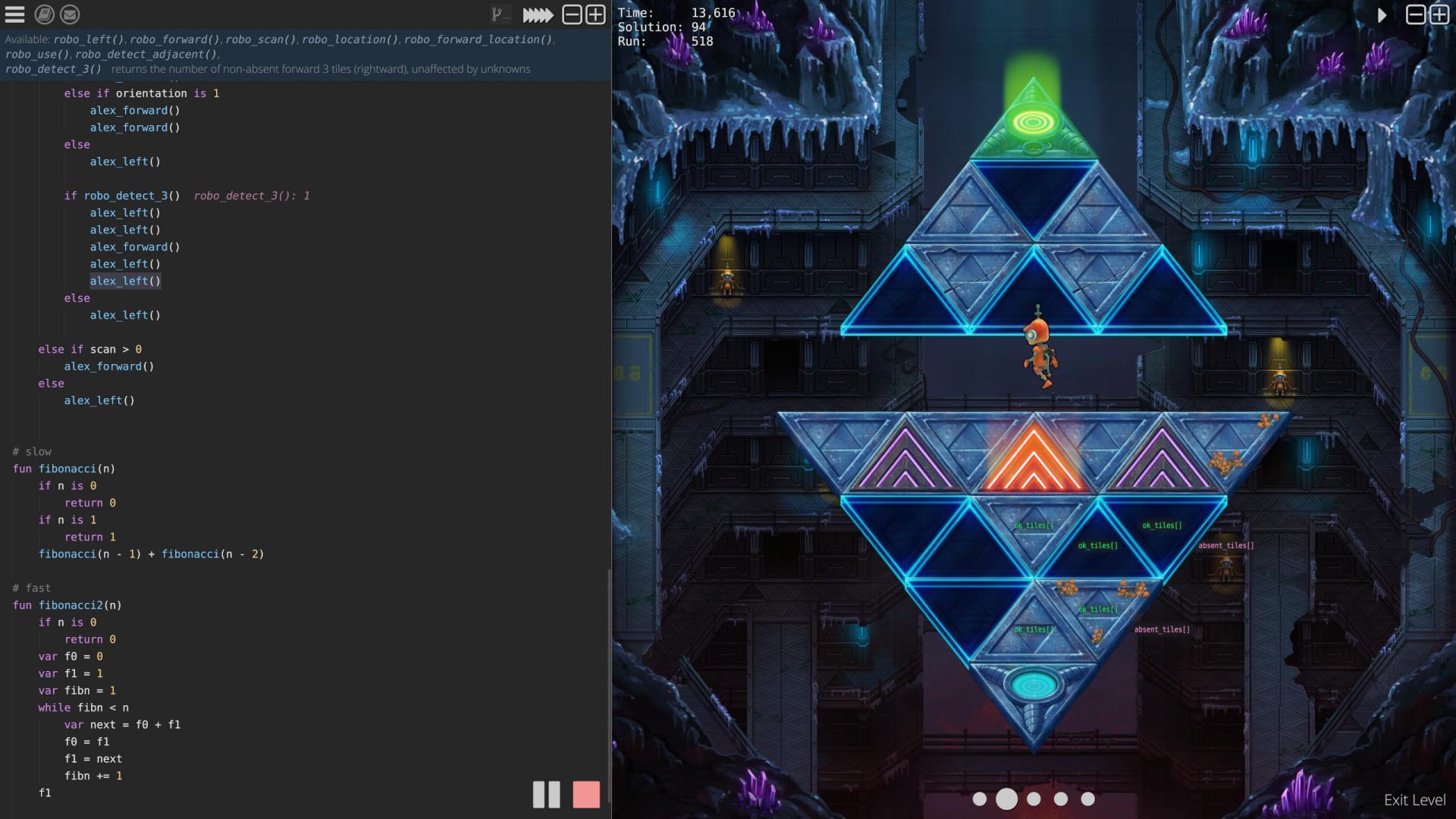 Robo Instructus gameplay screenshot with full UI