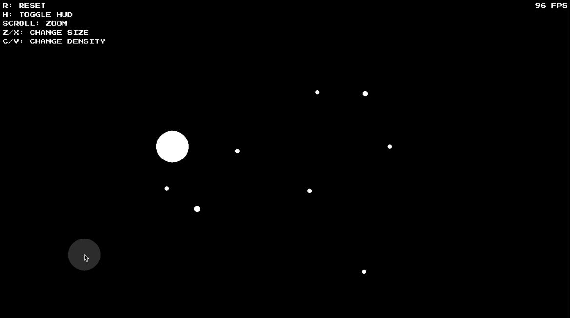 Gravisim screenshot