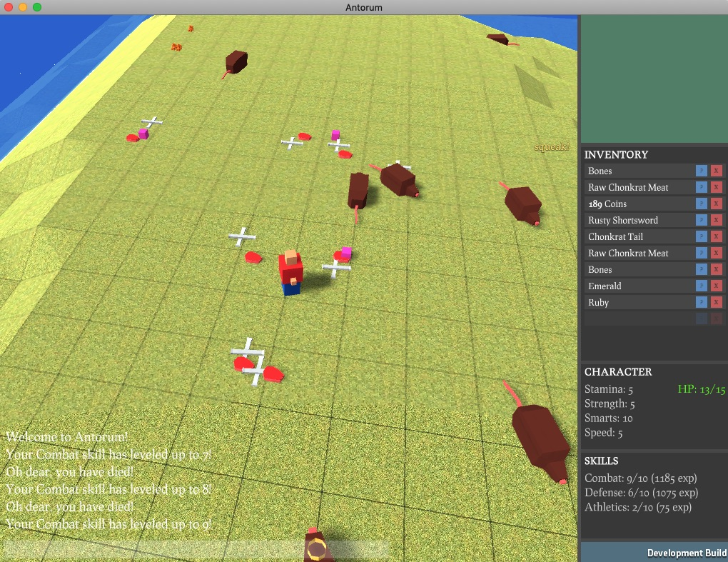 screenshot: battlefield after slaying some chonkrats