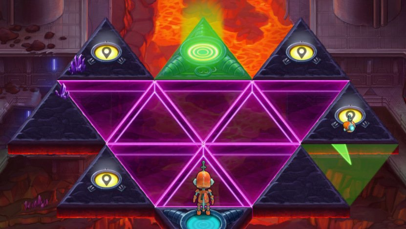 A screenshot of a later game level