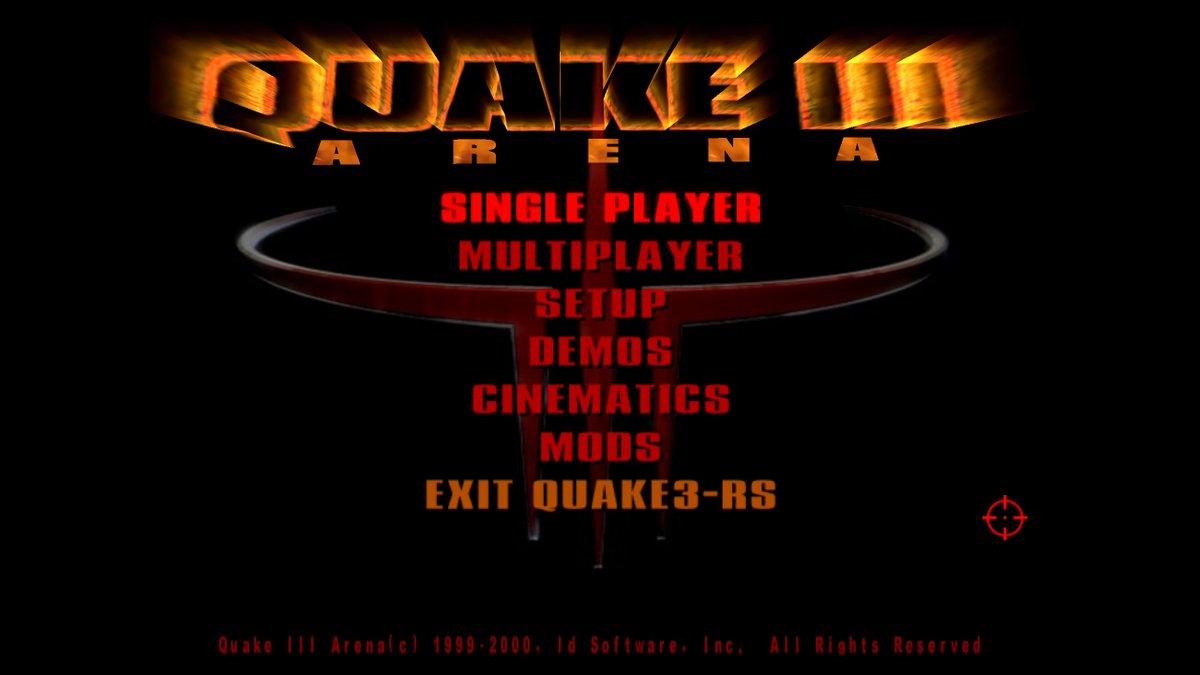 Rusty Q3 main menu