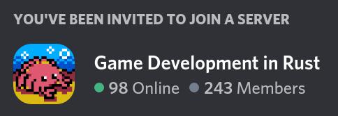 Invitation widget: 243 members total, 98 online