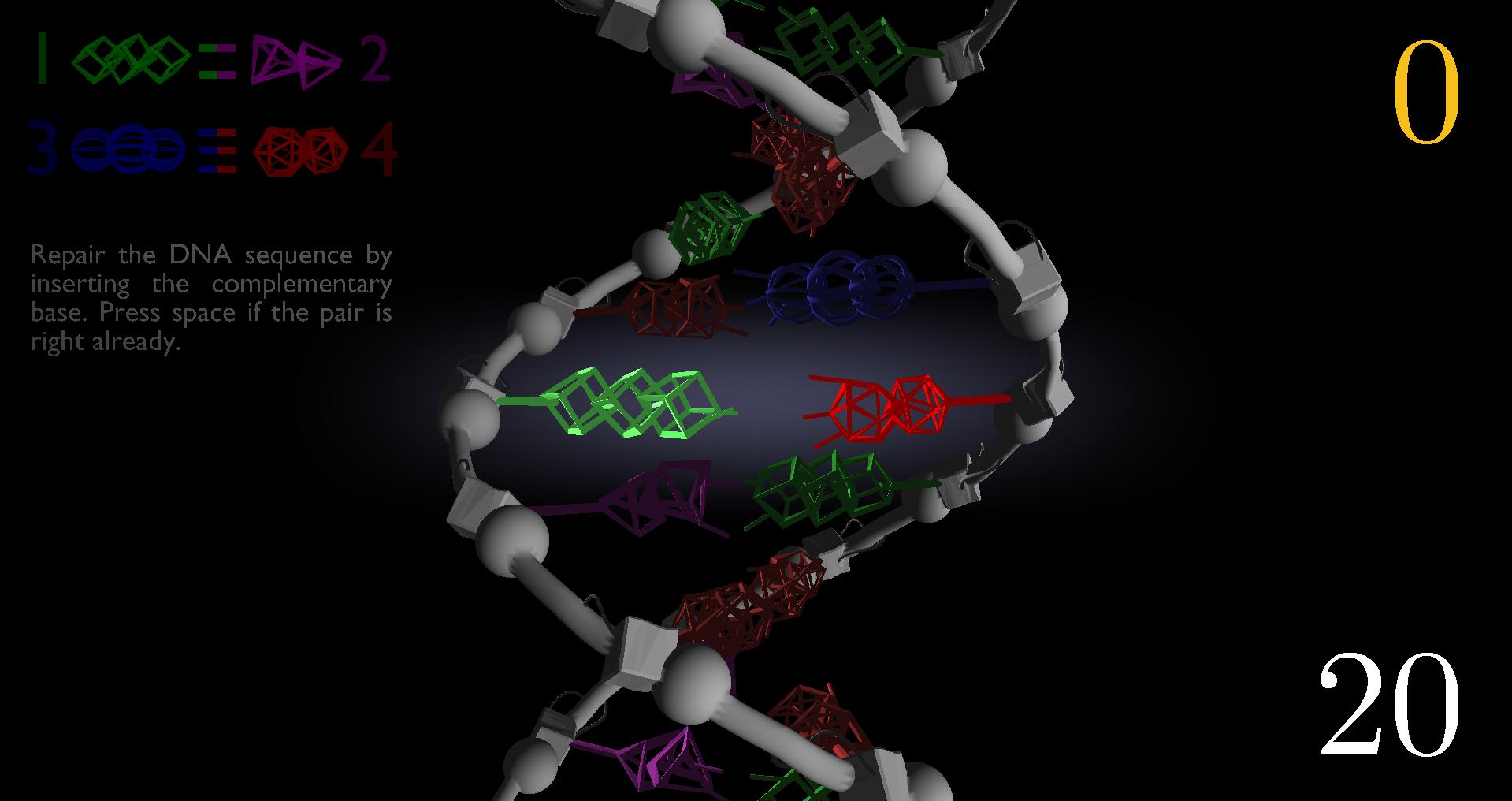 game screenshot: DNA