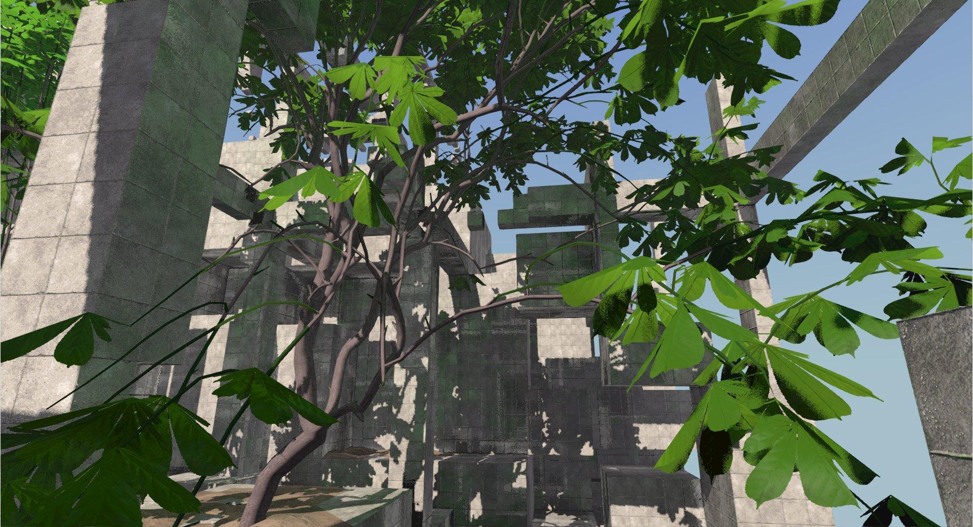 screenshot: concrete & trees