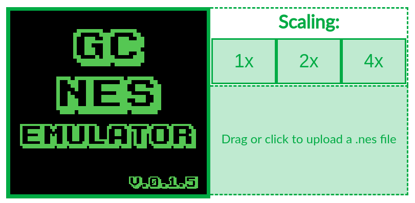 screenshot of the web version: main area, scaling settings and drag-n-drop area