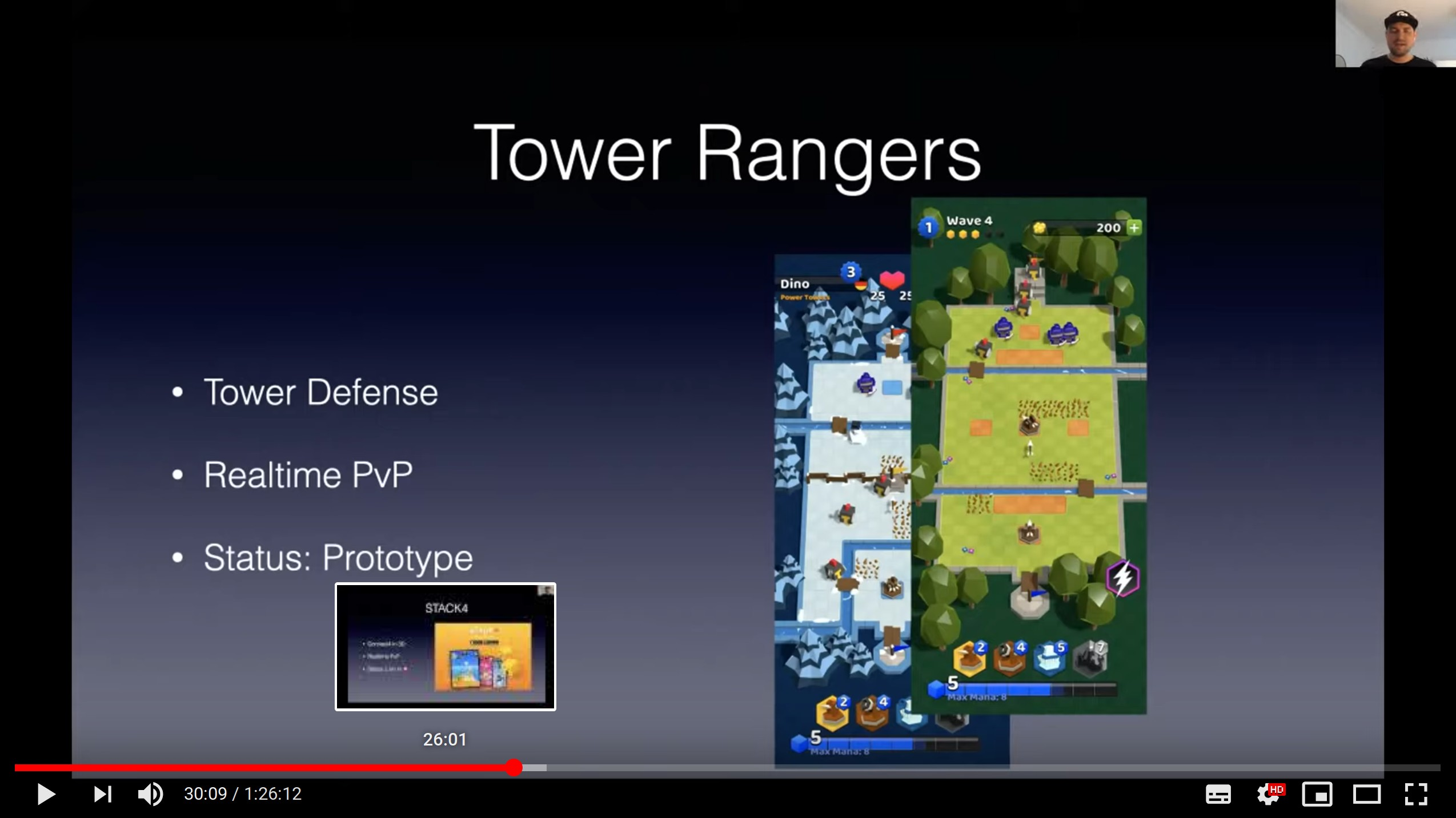 youtube preview: a slide with Tower Rangers game