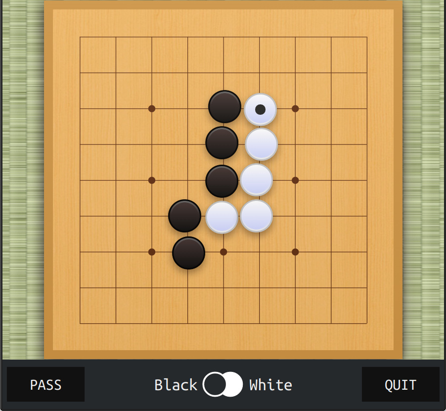 Play Go against AI and friends on the web