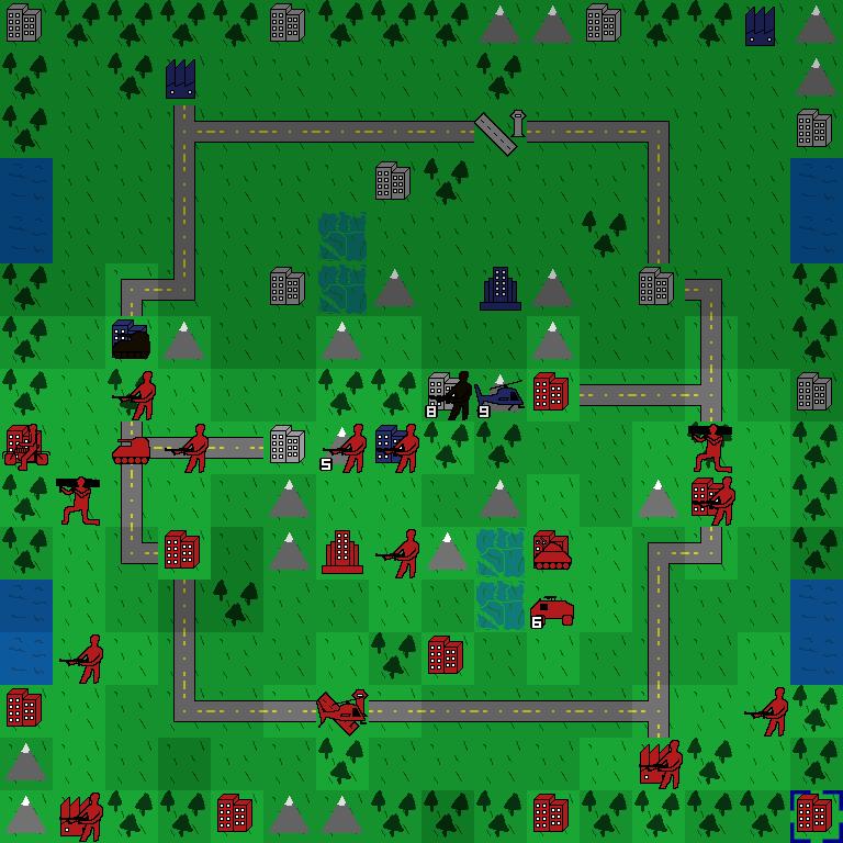 Screenshot of an in-progress game of Project YAWC