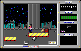 The first original Duke Nukem 1 level in FreeNukum