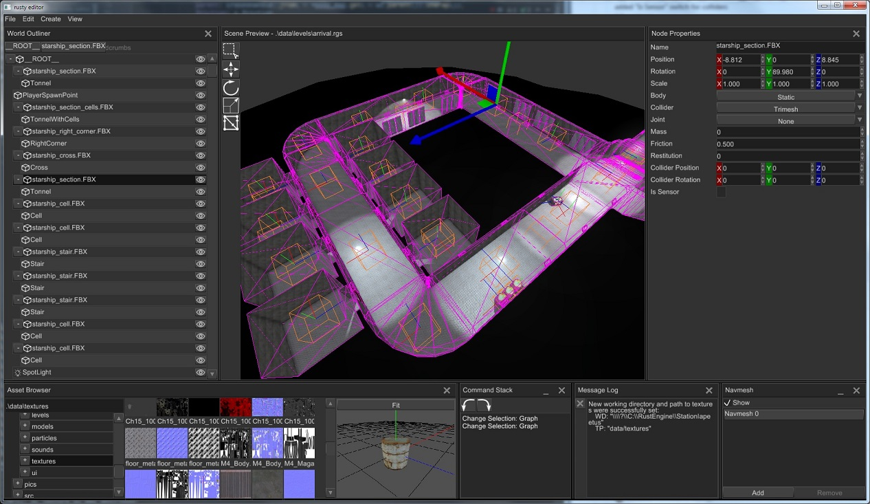 rusty-editor screenshot