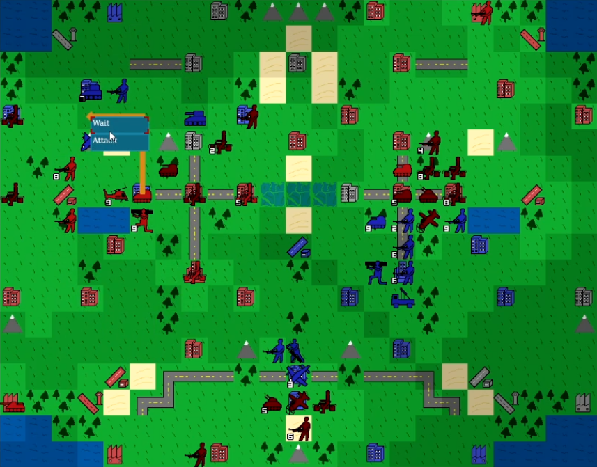 A screenshot from a game of Project YAWC.