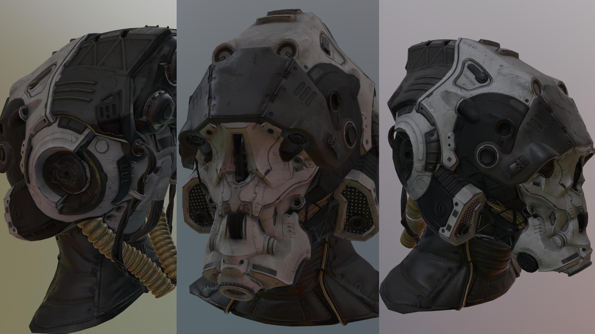 A Sci-Fi helmet model