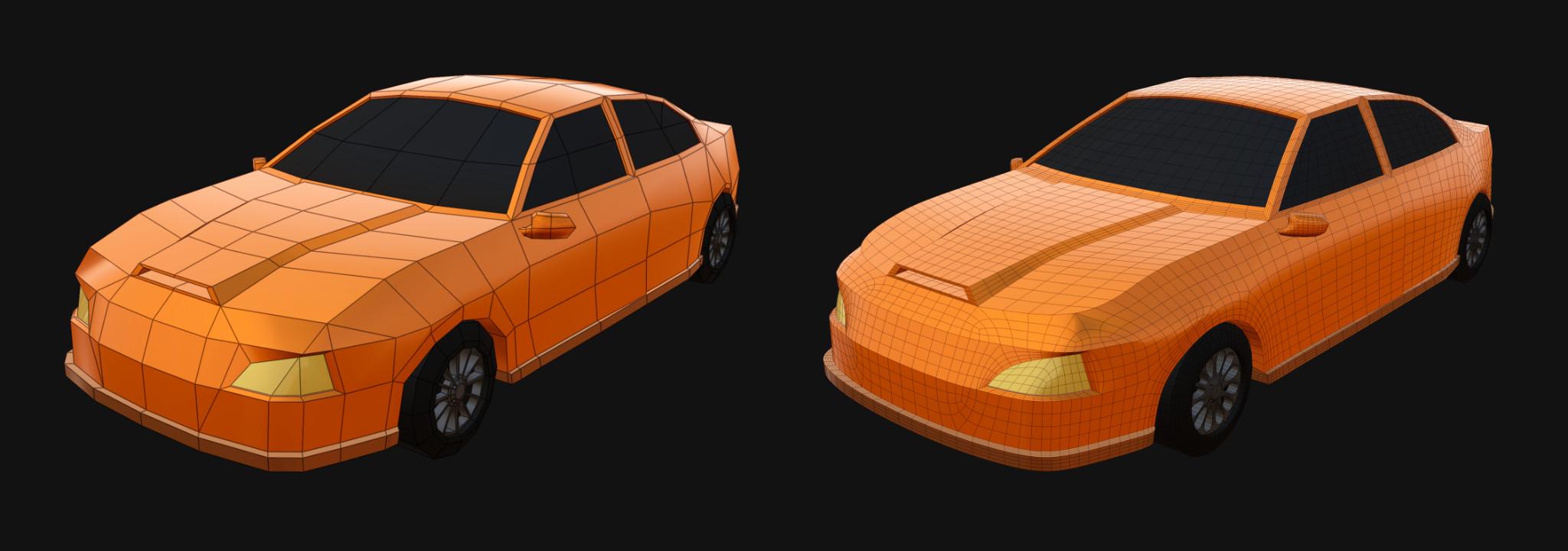 Low poly car model