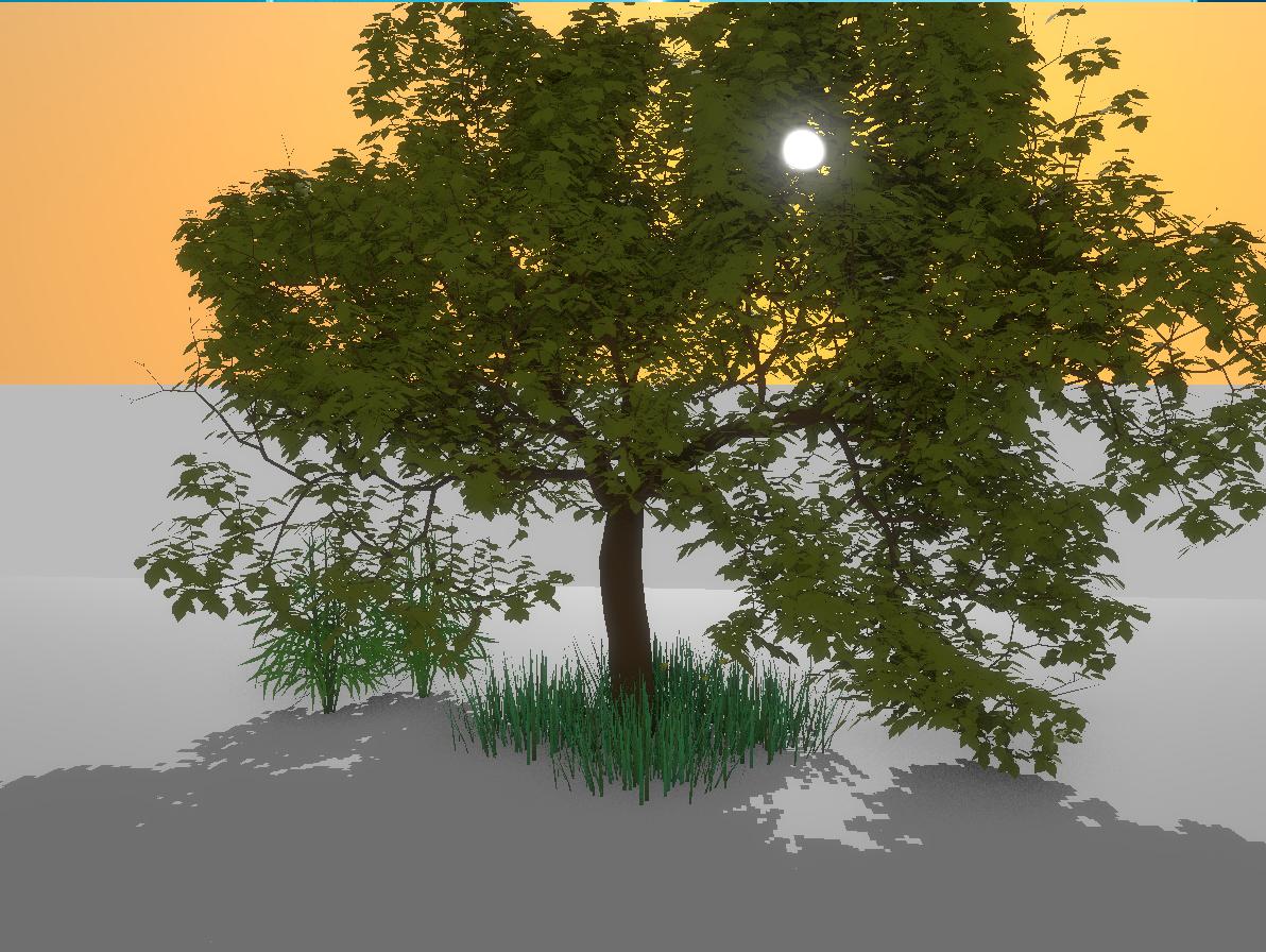 Screenshot of tree rendering