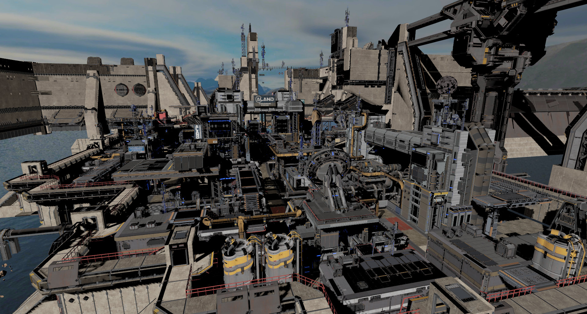 rend3 sci-fi base scene