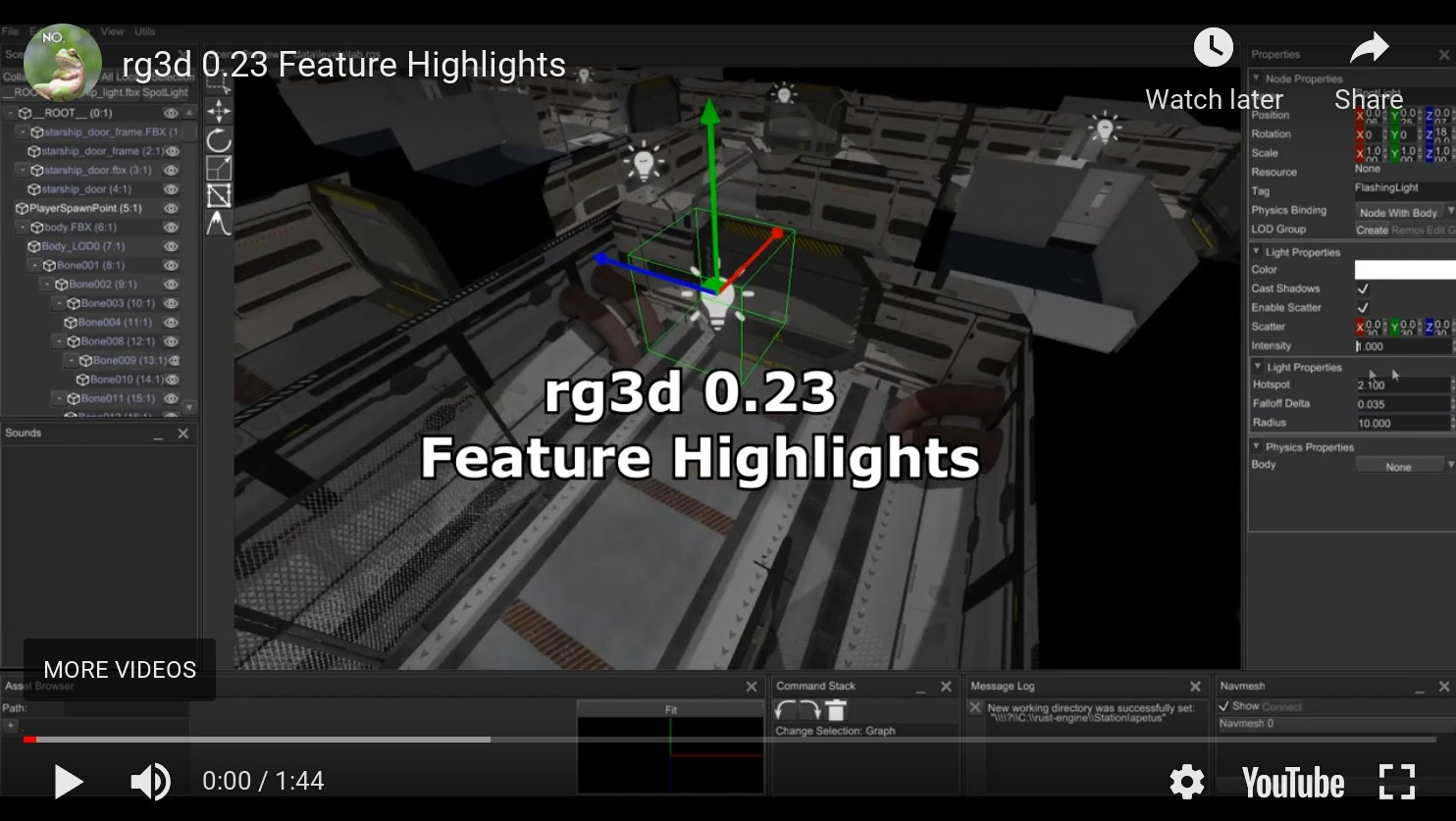 rg3d 0.23 feature highlights video
